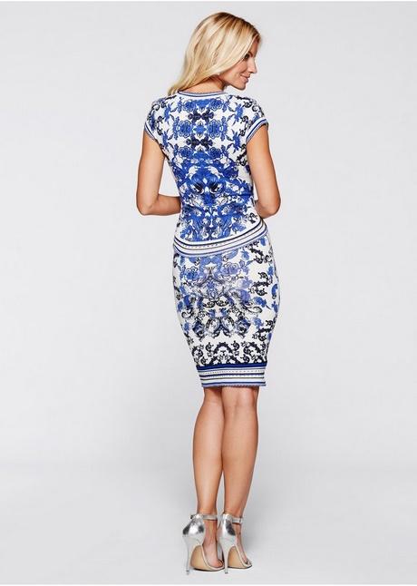 blauw peplum jurk