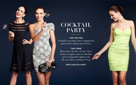 Dress code party cocktails